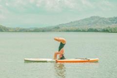 Sesión de Paddle Yoga